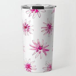 Pink Starbursts Travel Mug