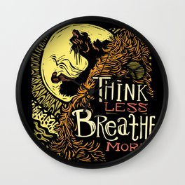 Lion's Breath Wall Clock