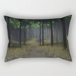 theres something in these woods Rectangular Pillow