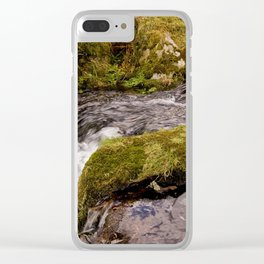 Meavy River, Dartmoor Clear iPhone Case