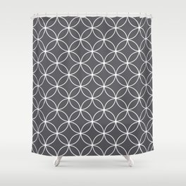 Circles Graphite Gray Shower Curtain