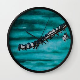 Birds of a Feather by Teresa Thompson Wall Clock