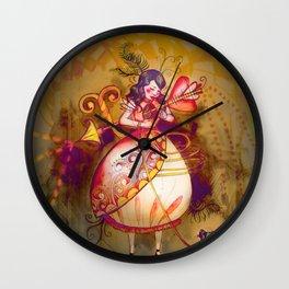 Love in Wonderland Wall Clock