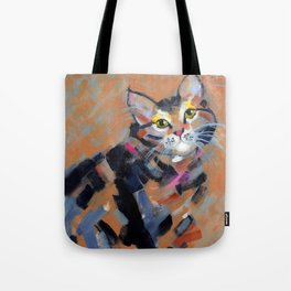 Stripes and Strokes Tote Bag