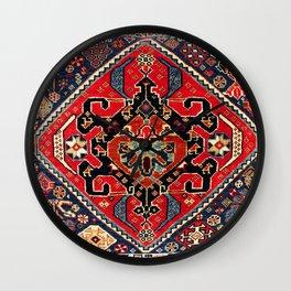 Qashqa'i Antique Fars Persian Bag Face Wall Clock