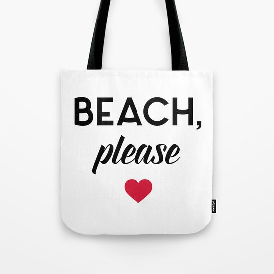 New Beach Please Funny Quote Tote Bag