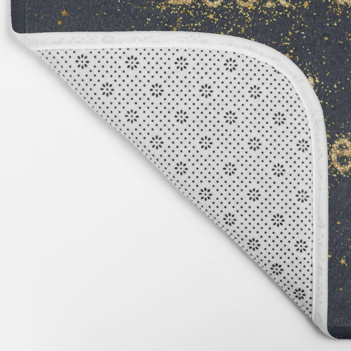 Look up at the stars,not down at your feet- gold glitter effect Typography Bath Mat