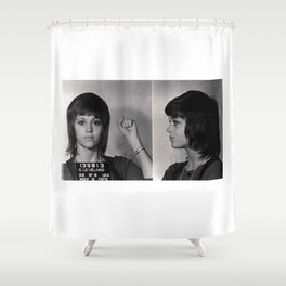 Jane Fonda Mugshot Shower Curtain