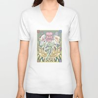 green lantern V-neck T-shirts featuring Lantern by Fernando Cano Zapata