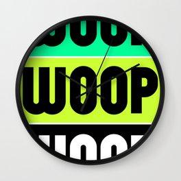 Woop Woop Woop (Raver) Wall Clock