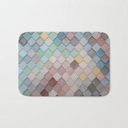Pastel Rainbow Mermaid Pattern Bath Mat