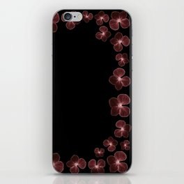 Hydrangea in deep maroon reds... iPhone Skin
