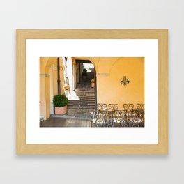 Cafe Chairs, Bellagio Framed Art Print