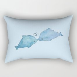 dolphin love; Rectangular Pillow