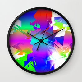 Rainbow Constructon Shatter Wall Clock