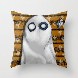 Bob's Ghost Throw Pillow