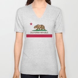 California flag, High Quality Authentic Unisex V-Neck