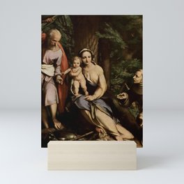 Antonio da Correggio - The Rest on the Flight to Egypt with Saint Francis Mini Art Print