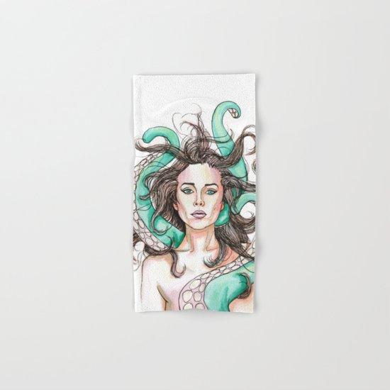 tentacle woman Hand & Bath Towel