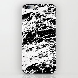 Black and White Paint Splatter iPhone Skin