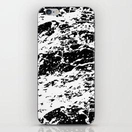 Black and White Paint Splatter iPhone Skin