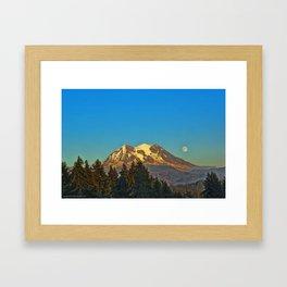 October Moonrise Framed Art Print