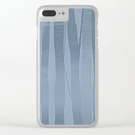 Woodland -  Minimal Blue Birch Forest Clear iPhone Case