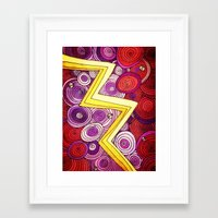 lightning Framed Art Prints featuring Lightning by DuckyB