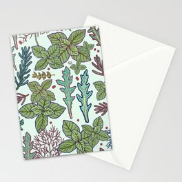 herbs pattern Stationery Cards