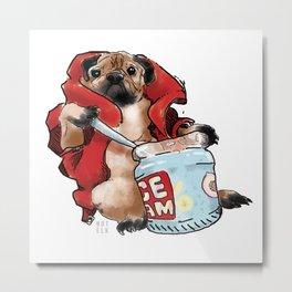 Pug dog Metal Print