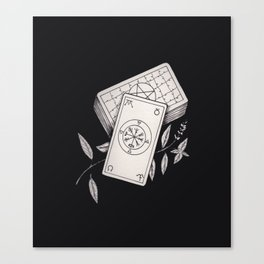 Wheel of Fortune Tarot Canvas Print