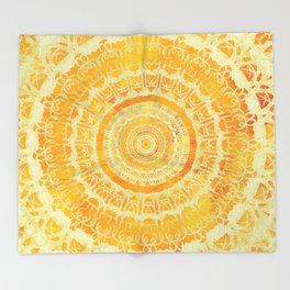 Sun Mandala 4 Throw Blanket