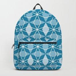 Rhombus Pattern, Pacific Blue Backpack