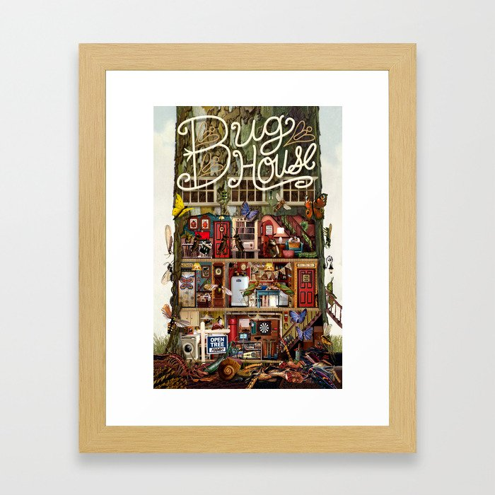 Bug House Framed Art Print