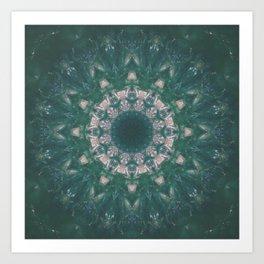 Amazon Emerald Gemstone Mandala No. 39 Art Print