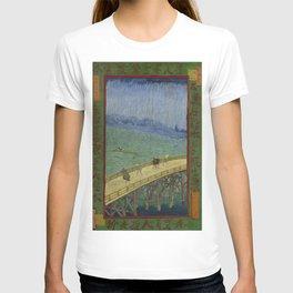 Vincent Van Gogh - Japanese - The Bridge in the Rain T-shirt