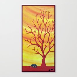 Happy Critter Tree no. 5 Canvas Print