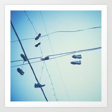 Shoes in the Sky  Art Print