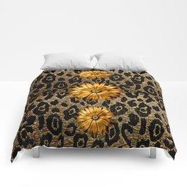 Animal Print Cheetah Triple Gold Comforters