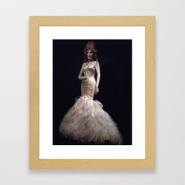 Feather Gown Framed Art Print