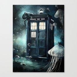 Doctor Who -Underwater Tardis Canvas Print