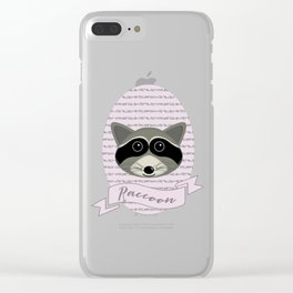 Mevrouw Raccoon Clear iPhone Case