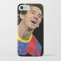 messi iPhone & iPod Cases featuring Messi  by Abhikreationz