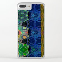Pixel Thread Woven Embroidery Boho Velvet Print Clear iPhone Case