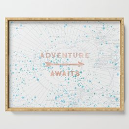 Adventure Awaits Rose Gold Serving Tray
