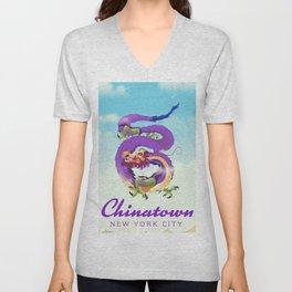 Chinatown New york city. Unisex V-Neck