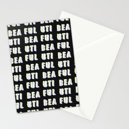 Beautiful - Typography Stationery Cards