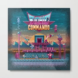 Commando Bionic Metal Print