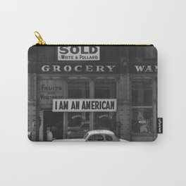I Am An American By Dorothea Lange Carry-All Pouch