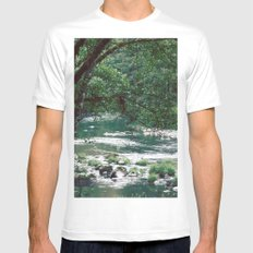Morning Meditation White Mens Fitted Tee MEDIUM
